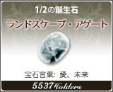 ランドスケープ•アゲート - 1/2の誕生石