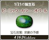 ビーコック•カラー•オパール - 1/21の誕生石