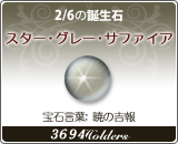 スター•グレー•サファイア - 2/6の誕生石