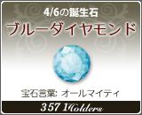 ブルーダイヤモンド - 4/6の誕生石