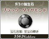 ブラック・ダイヤモンド - 9/3の誕生石